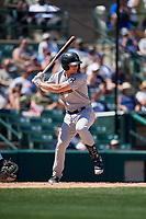 Scranton/Wilkes-Barre RailRiders Trey Amburgey (29) bats during an International League game against the Rochester Red Wings on June 25, 2019 at Frontier Field in Rochester, New York.  Rochester defeated Scranton 10-9.  (Mike Janes/Four Seam Images)