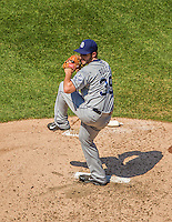 26 April 2014: San Diego Padres pitcher Donn Roach on the mound against the Washington Nationals at Nationals Park in Washington, DC. The Nationals defeated the Padres 4-0 to take the third game of their 4-game series. Mandatory Credit: Ed Wolfstein Photo *** RAW (NEF) Image File Available ***