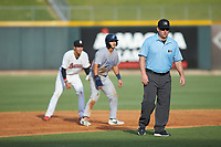 Third base umpire William Posey during the Southern League game between the Pensacola Blue Wahoos and the Birmingham Barons at Regions Field on July 7, 2019 in Birmingham, Alabama. The Barons defeated the Blue Wahoos 6-5 in 10 innings. (Brian Westerholt/Four Seam Images)