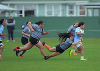 Action from the 2020 Hurricanes Under-15 Girls tournament match between St Mary's College and Ngati Porou East Coast at Playford Park in Levin, New Zealand on Tuesday, 1 September 2020. Photo: Dave Lintott / lintottphoto.co.nz