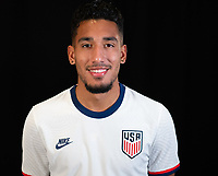 Jesus Ferreira during a portrait studio session for the U23 Olympic Qualifying team 2021.