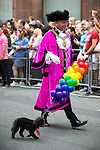 © Joel Goodman - 07973 332324 . 27/08/2016 . Manchester , UK . Cllr CARL AUSTIN-BEHAN , Lord Mayor of Manchester , leads the annual Pride Parade through Manchester City Centre as part of Manchester Gay Pride's Big Weekend . Photo credit : Joel Goodman