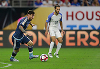 Houston, TX - June 21, 2016: The U.S. Men's National team go down 0-1 to Argentina in first half action in Semifinal play at the 2016 Copa America Centenario at NRG Stadium.