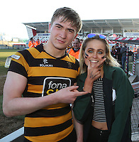 SCF2016 - RBAI vs Campbell College | Thursday 17th March 2016<br /> <br /> Harry Gallagher after the Ulster Schools Cup Final between RBAI and Campbell College at Kingspan Stadium, Ravenhill Park, Belfast, Northern Ireland. Photo credit: John Dickson / DICKSONDIGITAL