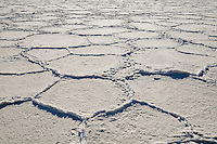 Mosaic patterns in salt pan, Death Valley National Park, California