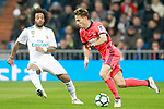 Real Madrid's Marcelo Vieira (l) and Real Sociedad's Sergio Canales during La Liga match. February 10,2017. (ALTERPHOTOS/Acero)