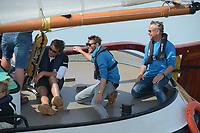 ZEILSPORT: LEMMER: 16-08-2019, IFKS Skûtsjesilen, winnaar B Klasse, Pieter-Jilles Tjoelker, skütsje 'Sterke Jerke', ©foto Martin de Jong