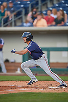 Zack Granite (2) of the Nashville Sounds bats against the Reno Aces at Greater Nevada Field on June 5, 2019 in Reno, Nevada. The Aces defeated the Sounds 3-2. (Stephen Smith/Four Seam Images)
