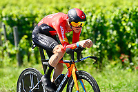 17th July 2021, St Emilian, Bordeaux, France;  MOHORIC Matej (SLO) of BAHRAIN VICTORIOUS during stage 20 of the 108th edition of the 2021 Tour de France cycling race, an individual time trial stage of 30,8 kms between Libourne and Saint-Emilion.