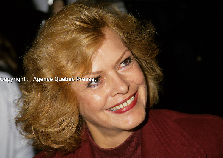 Montreal (Qc) CANADA, November 1994 File Photo -<br />  Lizette Lapointe,2nd wife of Jacques Parizeau<br /> <br /> <br /> Photo by Pierre Roussel / Images Distribution
