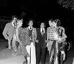 VALENTINO GARAVANI CON YVES PITANGUY<br /> FESTA PER I 30 ANNI DI HELMUT BERGER JACKIE O' ROMA 1974
