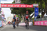 Caleb Ewan (AUS) Lotto-Soudal outsprints Giacomo Nizzolo (ITA) Team Qhubeka Assos to win Stage 5 of the 2021 Giro d'Italia, running 177km from Modena to Cattolica, Italy. 12th May 2021.  <br /> Picture: LaPresse/Massimo Paolone | Cyclefile<br /> <br /> All photos usage must carry mandatory copyright credit (© Cyclefile | LaPresse/Massimo Paolone)
