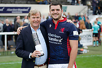 Lewis Wynne of London Scottish is Man of the Matchduring the Championship Cup match between London Scottish Football Club and Nottingham Rugby at Richmond Athletic Ground, Richmond, United Kingdom on 28 September 2019. Photo by Carlton Myrie / PRiME Media Images
