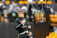 23rd May 2021; Molineux Stadium, Wolverhampton, West Midlands, England; English Premier League Football, Wolverhampton Wanderers versus Manchester United; Conor Coady of Wolverhampton Wanderers warms-up prior to the match