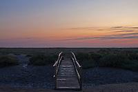 Stiffkey, Norfolk, England, 08/08/2009..Stiffkey salt marshes at dawn.