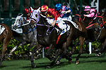 Jockey #7 Derek Leung Ka-chun riding King Winsa (C) during the race 3 of Hong Kong Racing at Happy Valley Race Course on November 29, 2017 in Hong Kong, Hong Kong. Photo by Marcio Rodrigo Machado / Power Sport Images