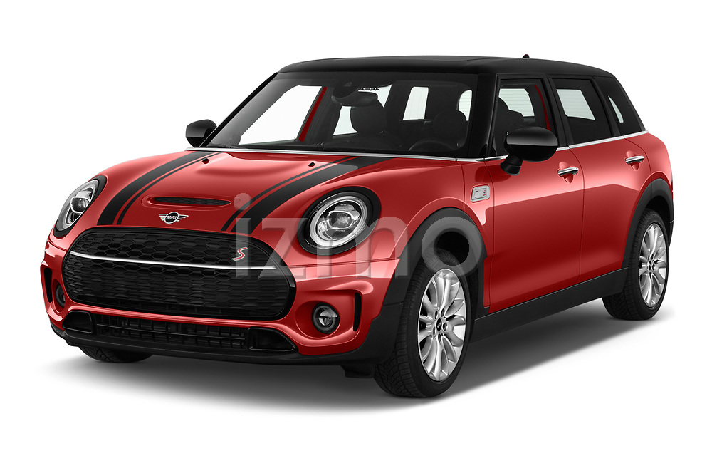 2020 Mini Clubman S 5 Door Wagon angular front stock photos of front three quarter view