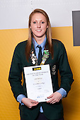 Girls Squash winner Lana Harrison from St Cuthberts College. ASB College Sport Auckland Secondary School Young Sports Person of the Year Awards held at Eden Park on Thursday 12th of September 2009.