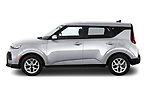 Car Driver side profile view of a 2020 KIA Soul S 5 Door Hatchback Side View