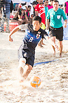 OBA Takaaki of Japan in action during the Beach Soccer Men's Team Gold Medal Match between Japan vs Oman on Day Nine of the 5th Asian Beach Games 2016 at Bien Dong Park on 02 October 2016, in Danang, Vietnam. Photo by Marcio Machado / Power Sport Images