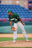 Daytona Tortugas relief pitcher Juan Martinez (18) during a game against the Brevard County Manatees on August 14, 2016 at Space Coast Stadium in Viera, Florida.  Daytona defeated Brevard County 9-3.  (Mike Janes/Four Seam Images)