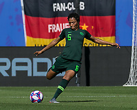 GRENOBLE, FRANCE - JUNE 22: Onome Ebi #5 of the Nigerian National Team clears the ball during a game between Panama and Guyana at Stade des Alpes on June 22, 2019 in Grenoble, France.