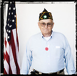Veteran Kenneth Hodge poses for a photo at a Veterans Day Program at the Oxford Conference Center in Oxford, Miss. on Thursday, November 11, 2010.