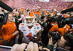 Clemson quarterback Deshaun Watson walk off the field after defeating Alabama for the 2017 College Football Playoff National Championship in Tampa, Florida on January 9, 2017.  Clemson defeated Alabama 35-31. Photo by Mark Wallheiser/UPI