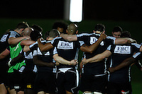 Photo: Richard Lane/Richard Lane Photography. London Wasps in Abu Dhabi for their LV= Cup game against Harlequins on 30st January 2011. 26/01/2011. Wasps huddle during training at the Zyaid Sports City.