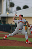 Clearwater Threshers pitcher Mark Leiter Jr. in action during a game against the Daytona Tortugas at Radiology Associates Field at Jackie Robinson Ballpark on May 9, 2015 in Daytona, Florida. Clearwater defeated Daytona 7-0. (Robert Gurganus/Four Seam Images)