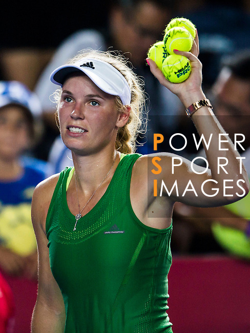 Jelena Jankovic of Serbia vs Caroline Wozniacki of Denmark during their Singles Semi Finals match at the WTA Prudential Hong Kong Tennis Open 2016 at the Victoria Park Tennis Stadium on 15 October 2016 in Hong Kong, China. Photo by Marcio Machado / Power Sport Images