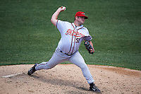 Richmond Flying Squirrels relief pitcher Preston Claiborne (52) delivers a pitch during a game against the Binghamton Mets on June 26, 2016 at NYSEG Stadium in Binghamton, New York.  Binghamton defeated Richmond 7-2.  (Mike Janes/Four Seam Images)