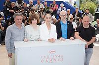 JEAN-MARIE LARRIEU, MARIE-JOSEE CROZE, NAOMI KAWASE, SANTIAGO LOZA, RADU MUNTEAN - PHOTOCALL DU JURY DE LA CINEFONDATION ET DES COURTS METRAGES, 69EME FESTIVAL DE CANNES
