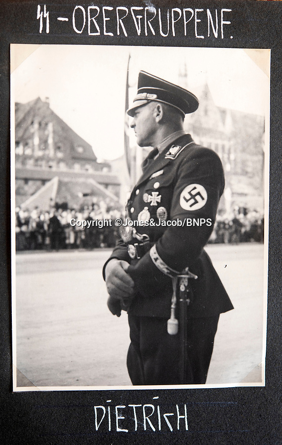 BNPS.co.uk (01202 558833)<br /> Pic: Jones&Jacob/BNPS<br /> <br /> LSSAH Obergruppenfuhrer Joseph Dietrich...<br /> <br /> Springtime for Hitler...Chilling album of pictures taken by one of Hitlers bodyguards illustrates the Nazi dictators rise to power.<br /> <br /> An unseen album of photographs taken by a member of Hitlers own elite SS bodyguard division in the years leading up to the start of WW2.<br /> <br /> The 1st SS Panzer Division 'Leibstandarte SS Adolf Hitler' or LSSAH began as Adolf Hitler's personal bodyguard in the 1920's responsible for guarding the Führer's 'person, offices, and residences'.
