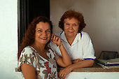 Manaus, Amazonas, Brazil. Two smiling ladies.