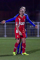 Davinia Vanmechelen (25) of Standard pictured during a female soccer game between  Racing Genk Ladies and Standard Femina on the 13 th matchday of the 2020 - 2021 season of Belgian Scooore Womens Super League , friday 5 th of february 2021  in Genk , Belgium . PHOTO SPORTPIX.BE | SPP | STIJN AUDOOREN