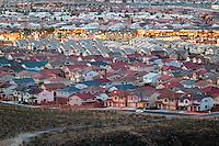 The edge of the urban sprawl, Las Vegas, Nevada.