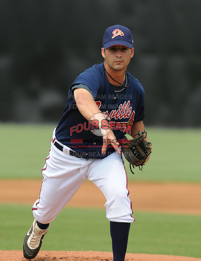 July 15, 2009: RHP Casey Hodges (34) of the Danville Braves, rookie Appalachian League affiliate of the Atlanta Braves, before a game at Dan Daniel Memorial Park in Danville, Va. Photo by:  Tom Priddy/Four Seam Images