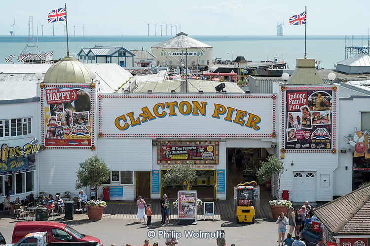 Clacton Pier.  The resort is the second most deprived seaside town in the UK.