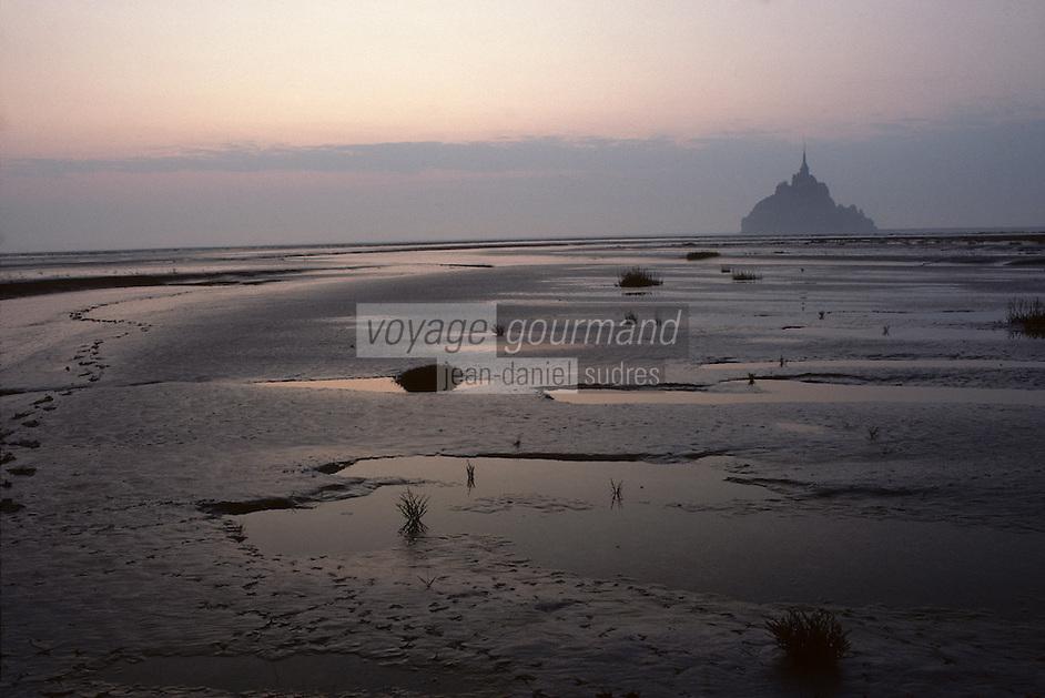 Europe/France/Normandie/Basse-Normandie/50/Manche/Mont Saint-Michel: Le mont et la baie