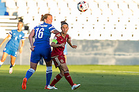 Finland's Anna Westerlund and Spain's Veronica Boquete during the match of  European Women's Championship 2017 at Leganes, between Spain and Finland. September 20, 2016. (ALTERPHOTOS/Rodrigo Jimenez) NORTEPHOTO