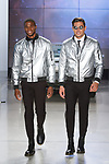 """Models walk runway in outfits from the Nick Graham Spring Summer 2019 """"1969"""" collection in at Cadillac House in New York City on July 10, 2018; during New York Fashion Week: Men's Spring Summer 2019."""