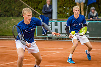 Netherlands, September 27,  2020, Beneden-Leeuwen, TV Lewabo, Competition, Men's premier league, TV Lewabo vs TV Suthwalda, Doubles: Kilian (NED)  and Dallinga (NED)  <br /> Photo: Henk Koster/tennisimages.com