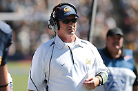 Head Coach Jeff Tedford. The University of California Berkeley Golden Bears defeated the UC Davis Aggies 52-3 in their home opener at Memorial Stadium in Berkeley, California on September 4th, 2010.