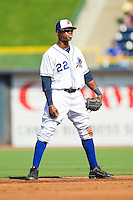 Shortstop Tim Beckham #22 of the Durham Bulls on defense against the Charlotte Knights at Durham Bulls Athletic Park on August 28, 2011 in Durham, North Carolina.   (Brian Westerholt / Four Seam Images)