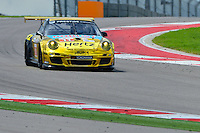 September 19, 2013: <br /> <br /> Mike Hedlund / Jan Heylen driving #11 GTC Porsche 911 GT3 Cup during International Sports Car Weekend test and setup day in Austin, TX.