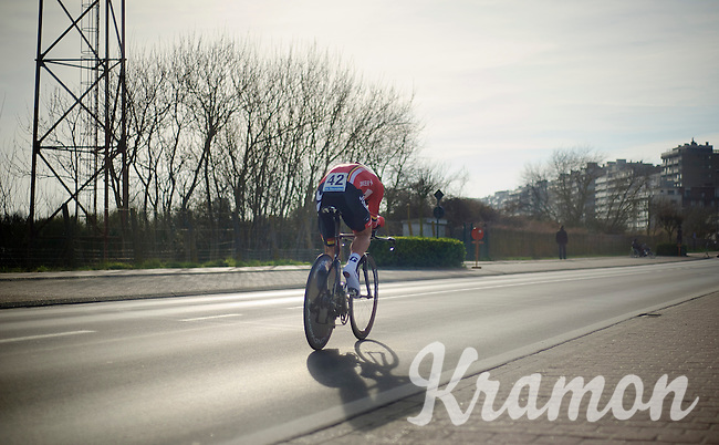 Greg Henderson (NZL) working his way back from injury<br /> <br /> 3 Days of West-Flanders 2014<br /> day 1: TT/prologue Middelkerke 7,0 km