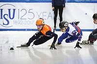 SHORT TRACK: TORINO: 14-01-2017, Palavela, ISU European Short Track Speed Skating Championships, Semifinals 500m Men, Sjinkie Knegt (NED), Victor An (RUS), ©photo Martin de Jong