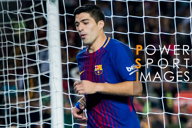 Luis Alberto Suarez Diaz of FC Barcelona reacts during the La Liga 2017-18 match between FC Barcelona and Malaga CF at Camp Nou on 21 October 2017 in Barcelona, Spain. Photo by Vicens Gimenez / Power Sport Images
