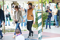 Venice, Italy - August 28:  Emma Stone and Andrew Garfield leave from darsena of Excelsior Hotel, during the 71st Venice Film Festival on August 28, 2014 in Venice, Italy. (Photo by Mark Cape/Inside)<br /> Venezia, Italy - Agosto 28: Emma Stone and Andrew Garfield partono dalla darsena dell' Hotel Excelsior, durante del 71st Venice Film Festival. Agosto 28, 2014 Venezia, Italia. (Photo by Mark Cape/Inside Foto)